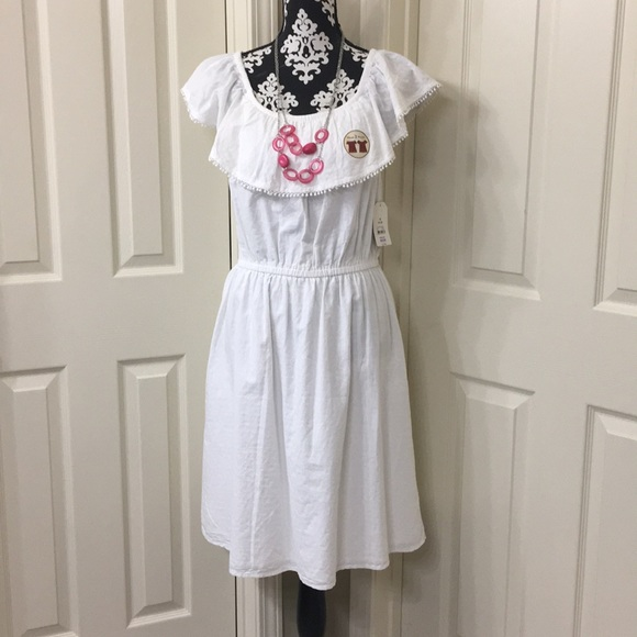 08dfc0e5e2d277 Faded Glory Dresses | Bnwt White Dress Womens 810 Easterspring ...
